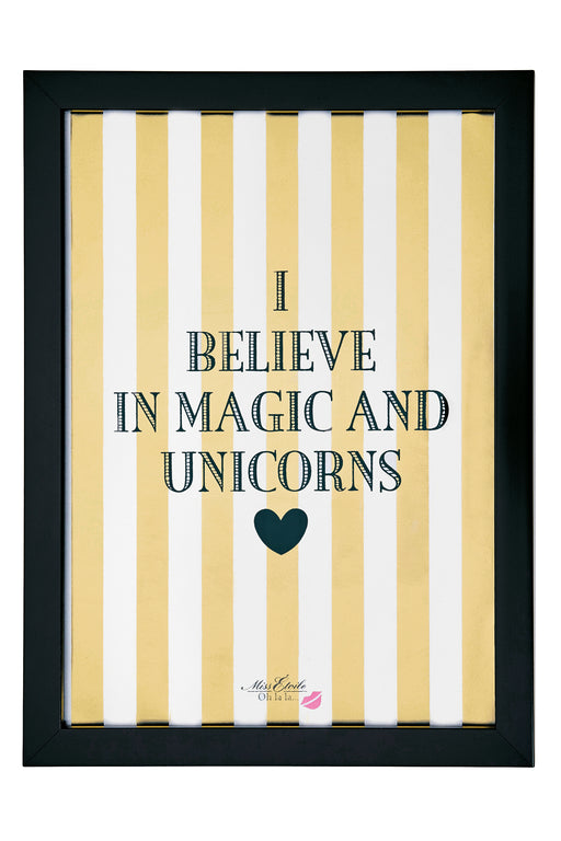 Believe In Magic And Unicorn, Decor, Miss Etoile - 3LittlePicks