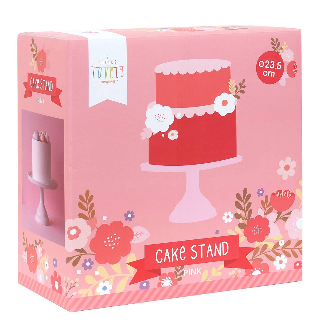 Small Pink Cake Stand