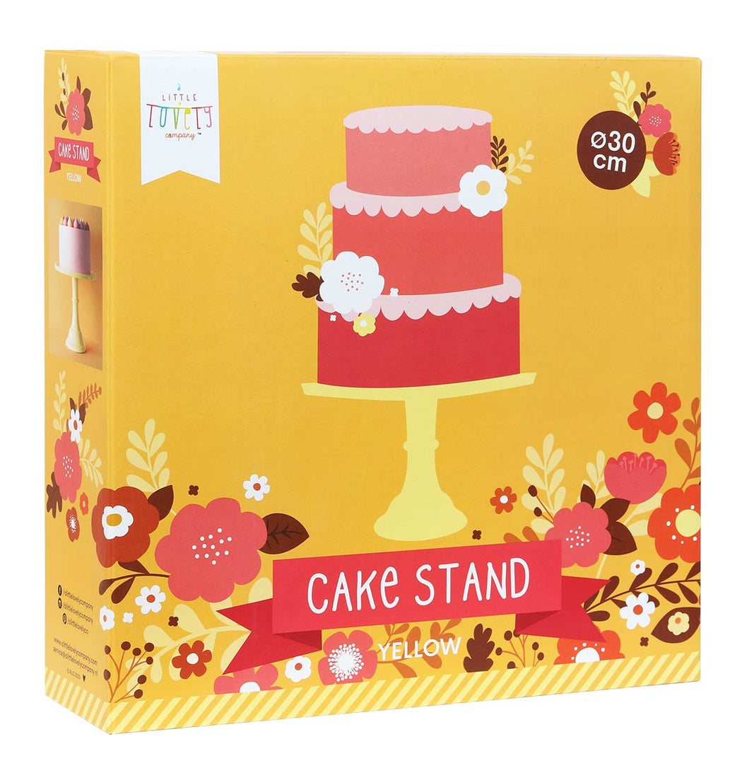 Large Yellow Cake Stand