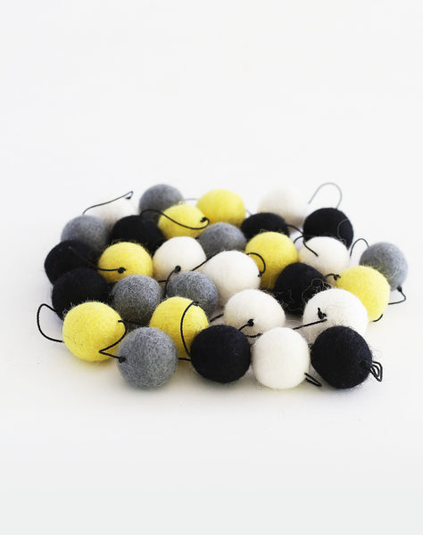 Yellow and Black Garland