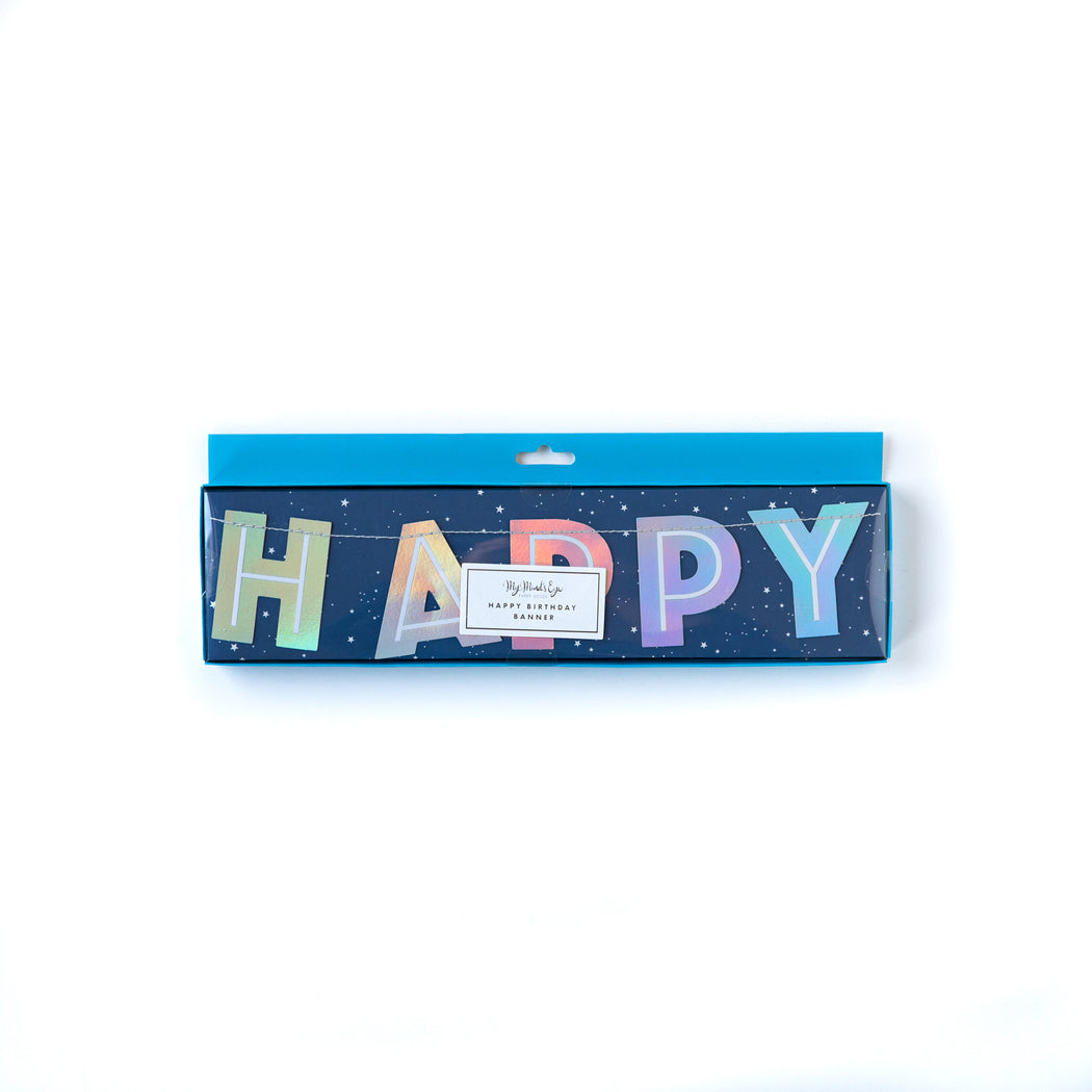 Rocket Happy Birthday Banner, Partyware, My Mind's Eye - 3LittlePicks