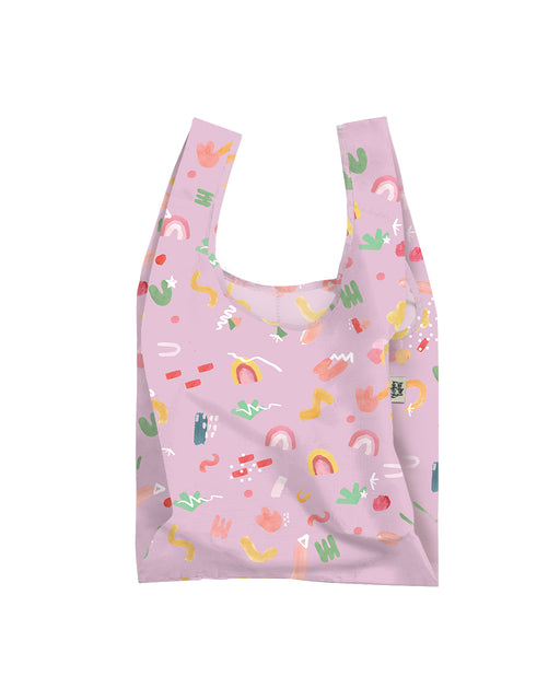 Lilac Pop Reusable Shopping Bag, Lifestyle, Blushing Confetti - 3LittlePicks