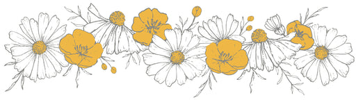 Chamomile Flowers Braid Vinyl Decal, Decor, Lilipinso - 3LittlePicks