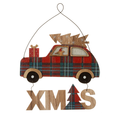 Christmas Mouse Car Journey Hanging Decoration