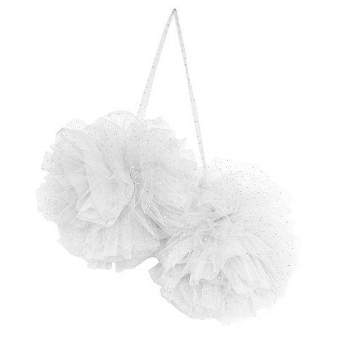 Large Sparkle Pom White