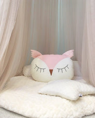 Sleepy Owl Blush Ivory