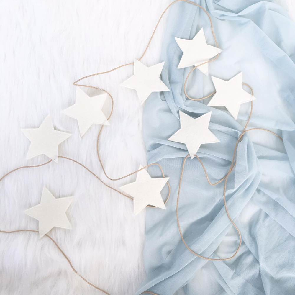 Star Garland Ivory, Decor, Spinkie - 3LittlePicks