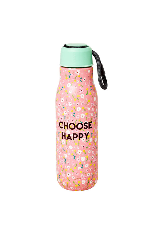 Choose Happy Stainless Steel Water Bottle