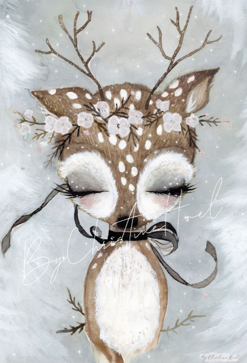 Fawn, Decor, By Christine Hoel - 3LittlePicks