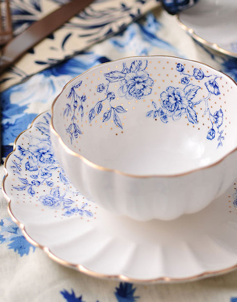 Blue Peonies Bowl