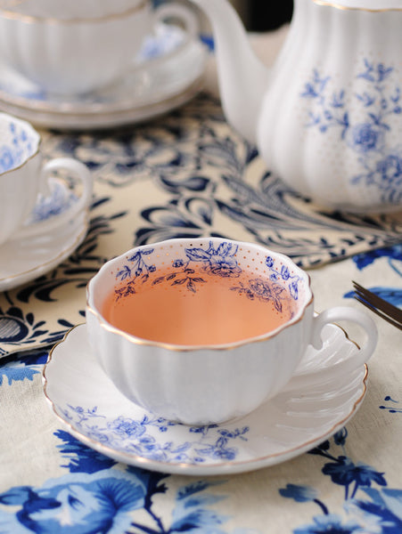 Blue Peonies Tea Set