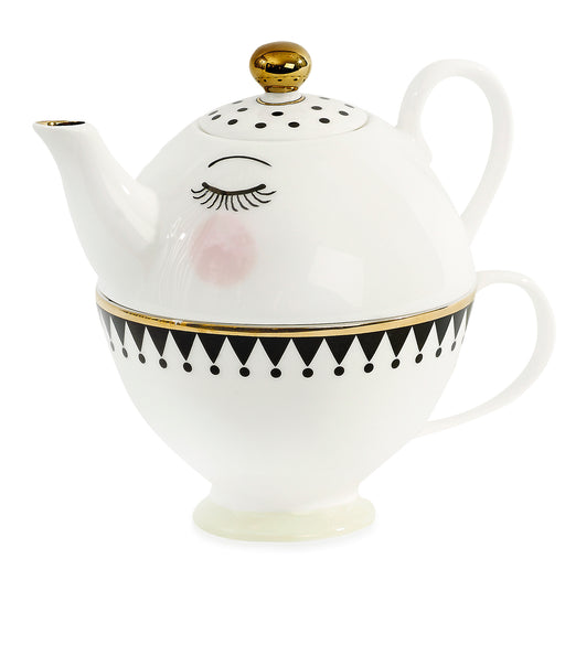 Eyes and Dots Mini Teapot Set, Drinkware, Miss Etoile - 3LittlePicks