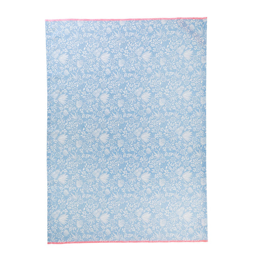 Blue Fern and Flower Cotton Tea Towel, Kitchen Accessories, RICE - 3LittlePicks