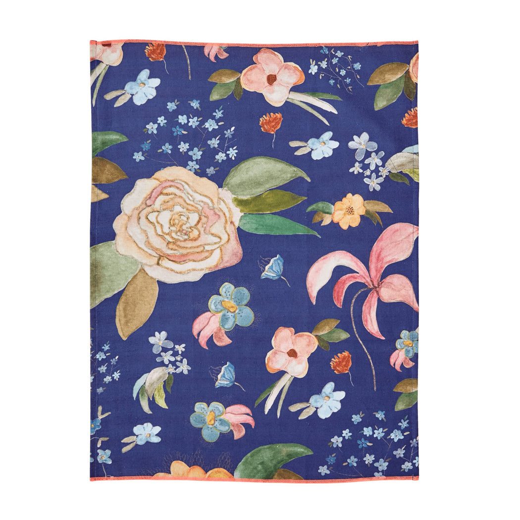 Selma's Fall Flower Cotton Tea Towel