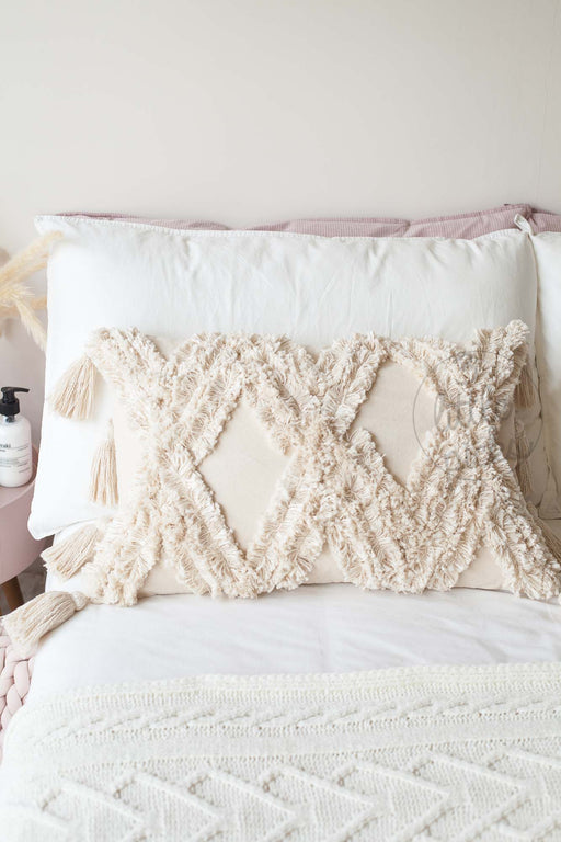 Fluffy Tufted Linen Cotton Waist Cushion