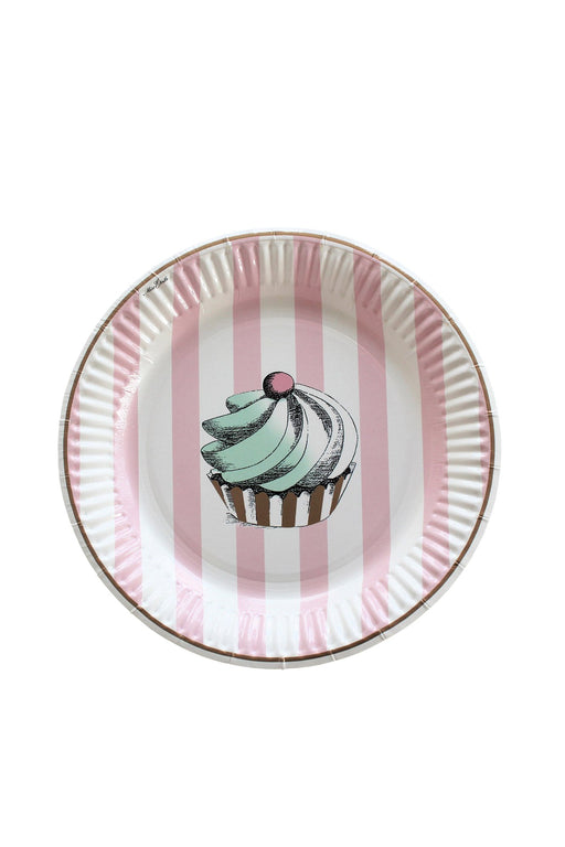Cake And Stripe Party Plates, Partyware, Miss Etoile - 3LittlePicks