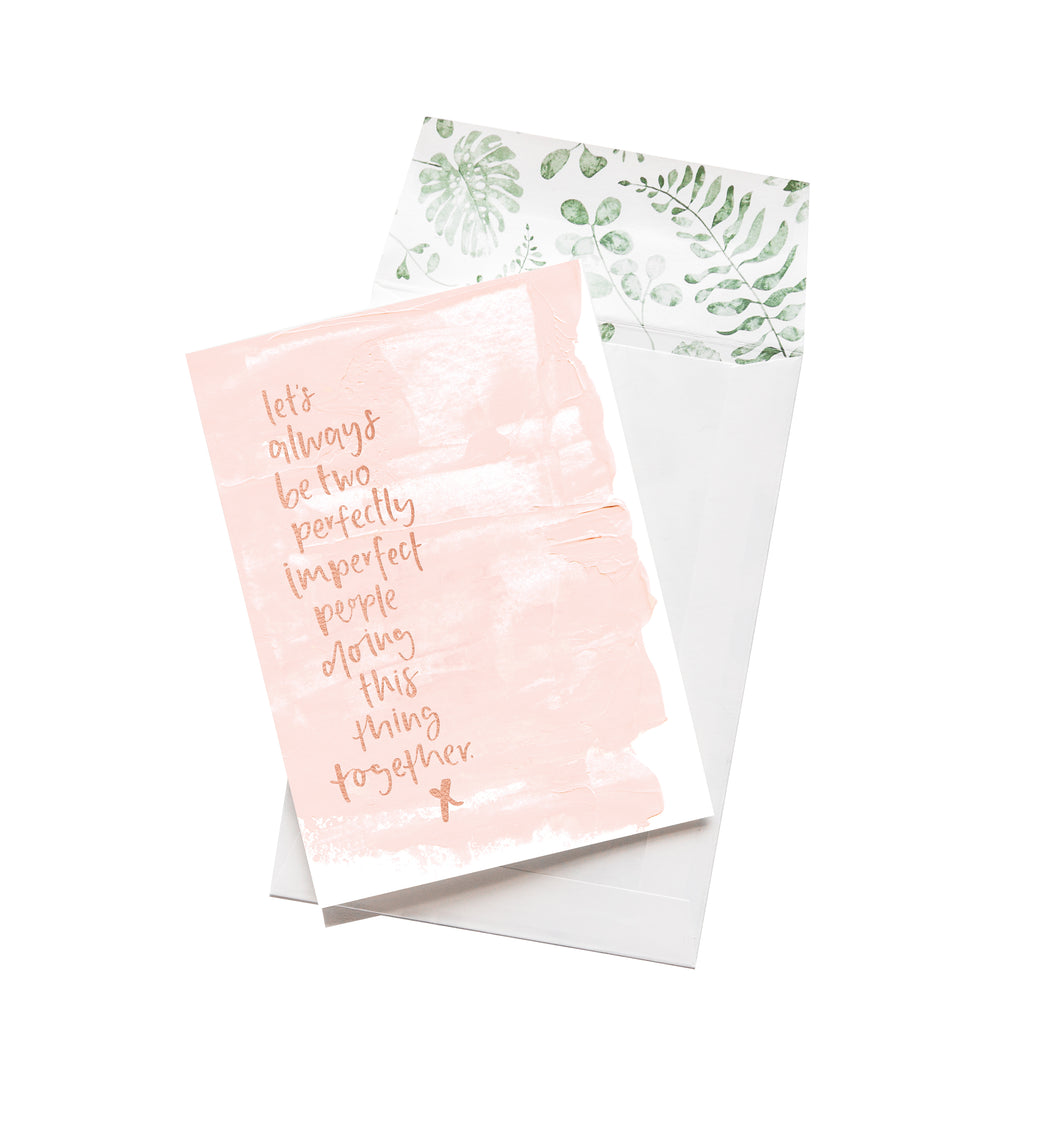 Lets Always Be Two Imperfect People, Stationary, Emma Kate Co. - 3LittlePicks