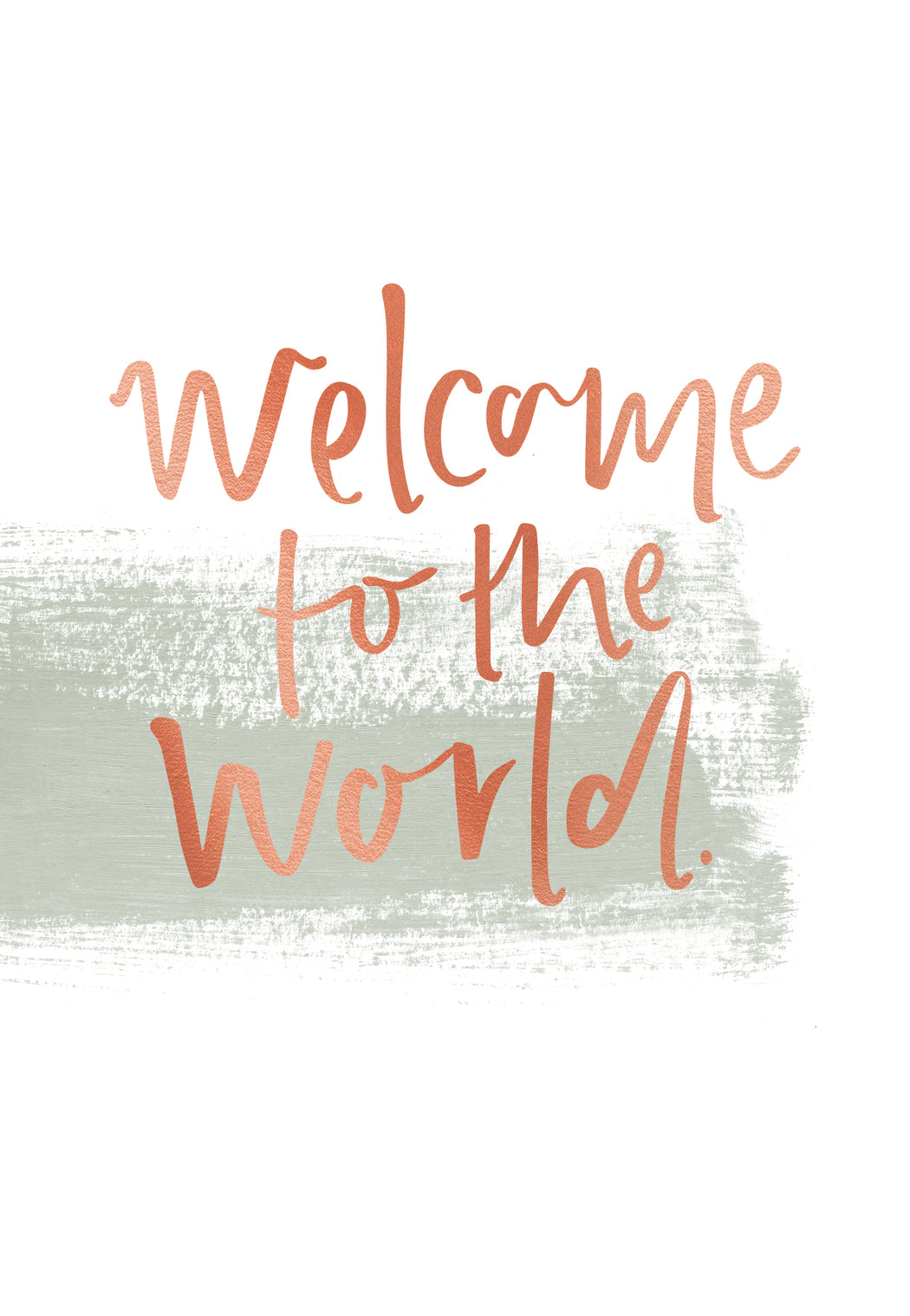Welcome To The World, Stationery, Emma Kate Co. - 3LittlePicks
