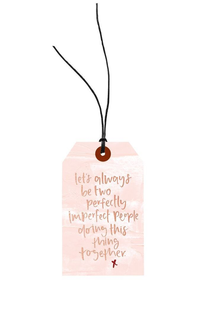 Two Perfectly Imperfect People Gift Tag, Stationary, Emma Kate Co. - 3LittlePicks