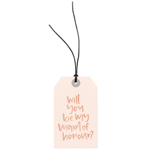 Maid Of Honour Gift Tag