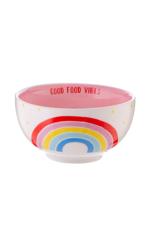 Chasing Rainbows Good Food Vibes Bowl, Dining, Sass & Belle - 3LittlePicks