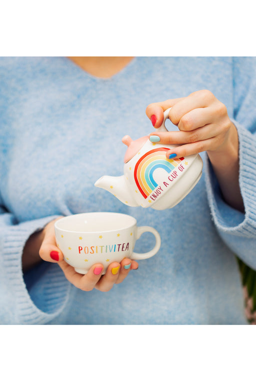 PRE-ORDER: Rainbow Positivitea Tea Pot Set For One