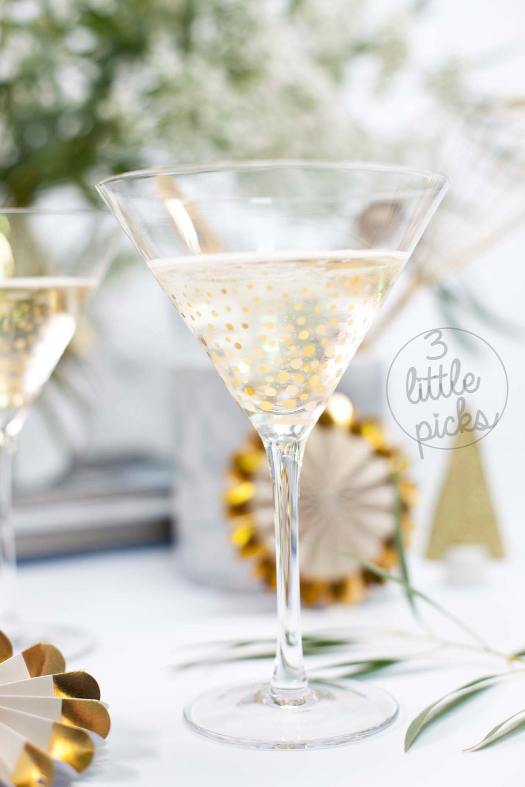 Golden Confetti Cocktail
