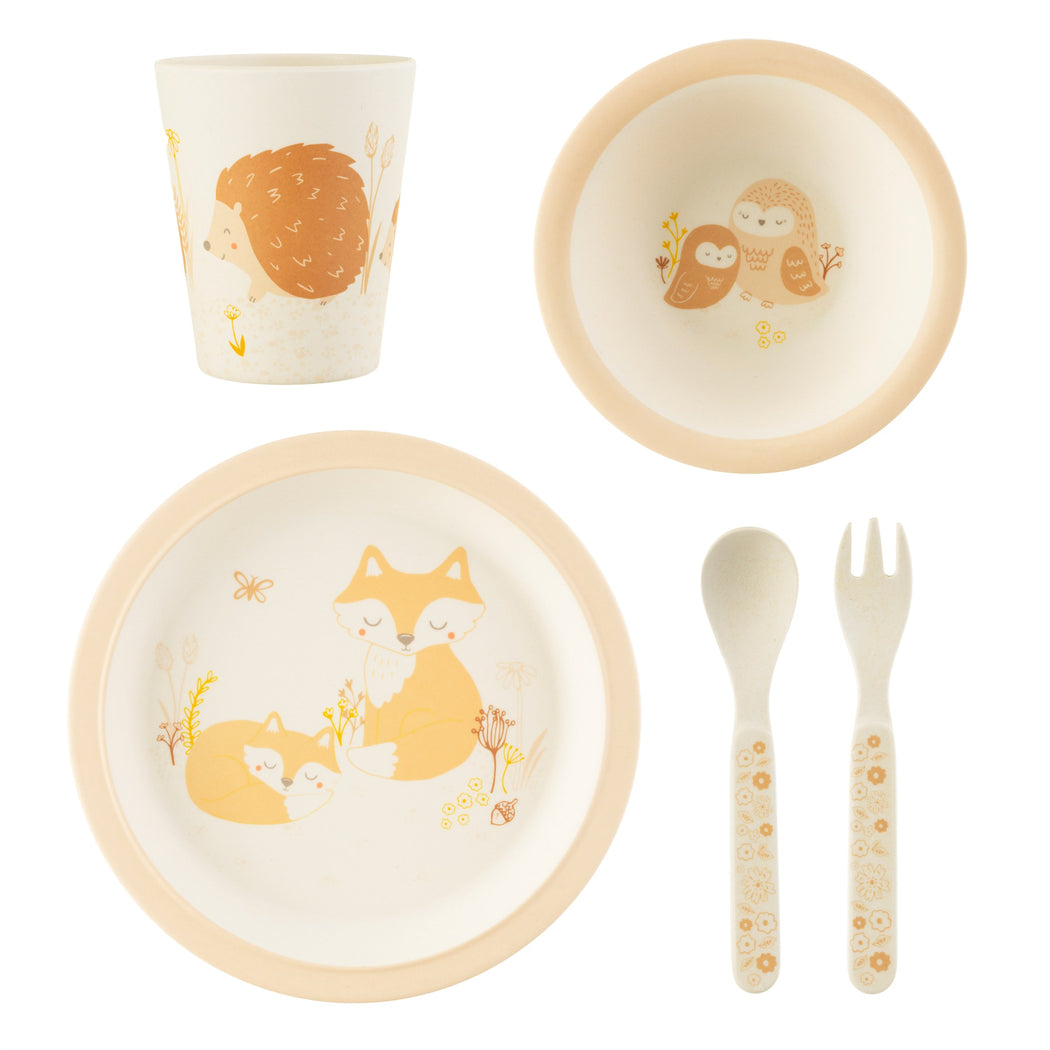 Woodland Baby Bamboo Tableware Set, Dining, Sass & Belle - 3LittlePicks