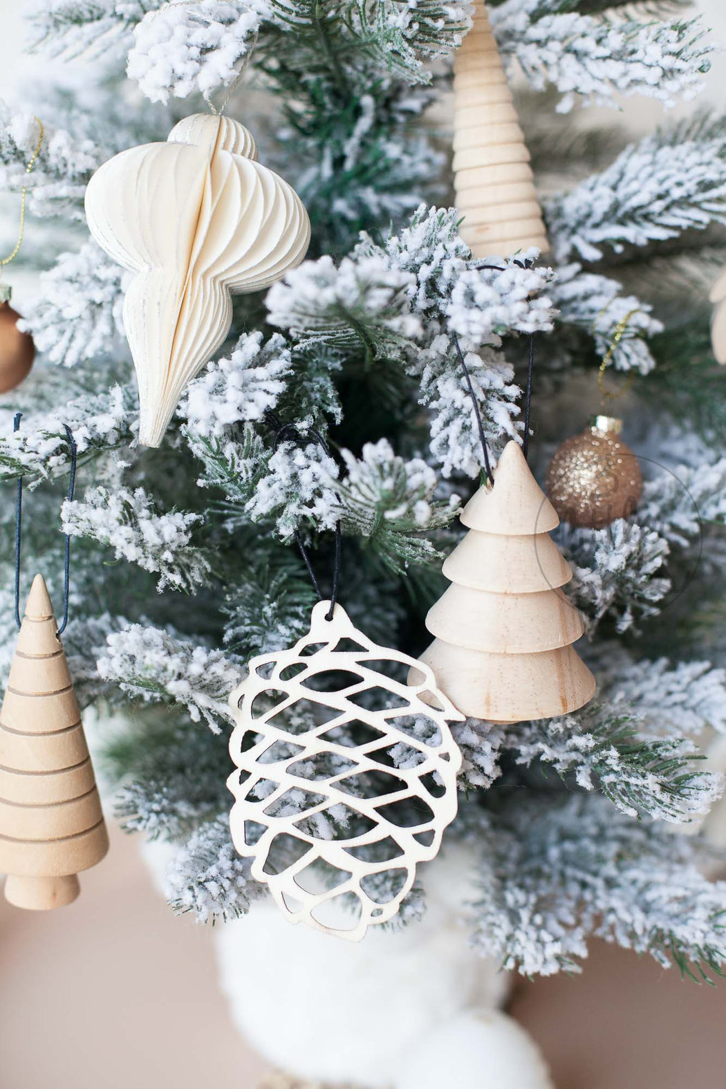 Laser Cut Cone Ornaments, Decor, Hübsch - 3LittlePicks