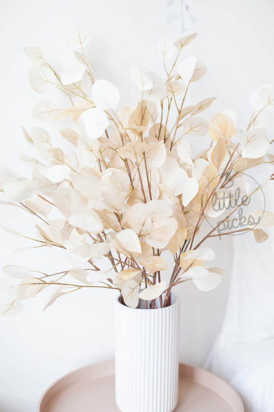 COMING BACK: Bleached Effect Eucalyptus Foliage Stems, Decor, 3littlepicks - 3LittlePicks