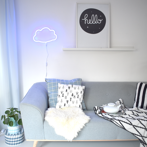 Blue Neon Cloud Light, Lighting, A Little Lovely Company - 3LittlePicks