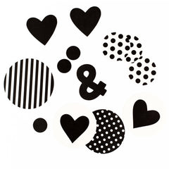 Black And White Confetti, Partyware, My Mind's Eye - 3LittlePicks