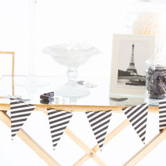 Black & White Stripes Banner, Partyware, My Mind's Eye - 3LittlePicks
