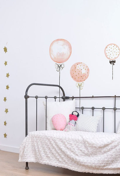 Pink Gold Balloons Vinyl Decal