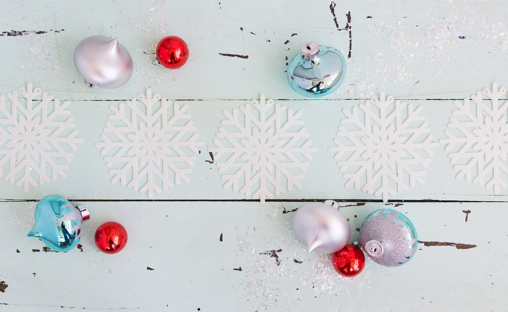 Felt Snowflake Banner, Partyware, My Mind