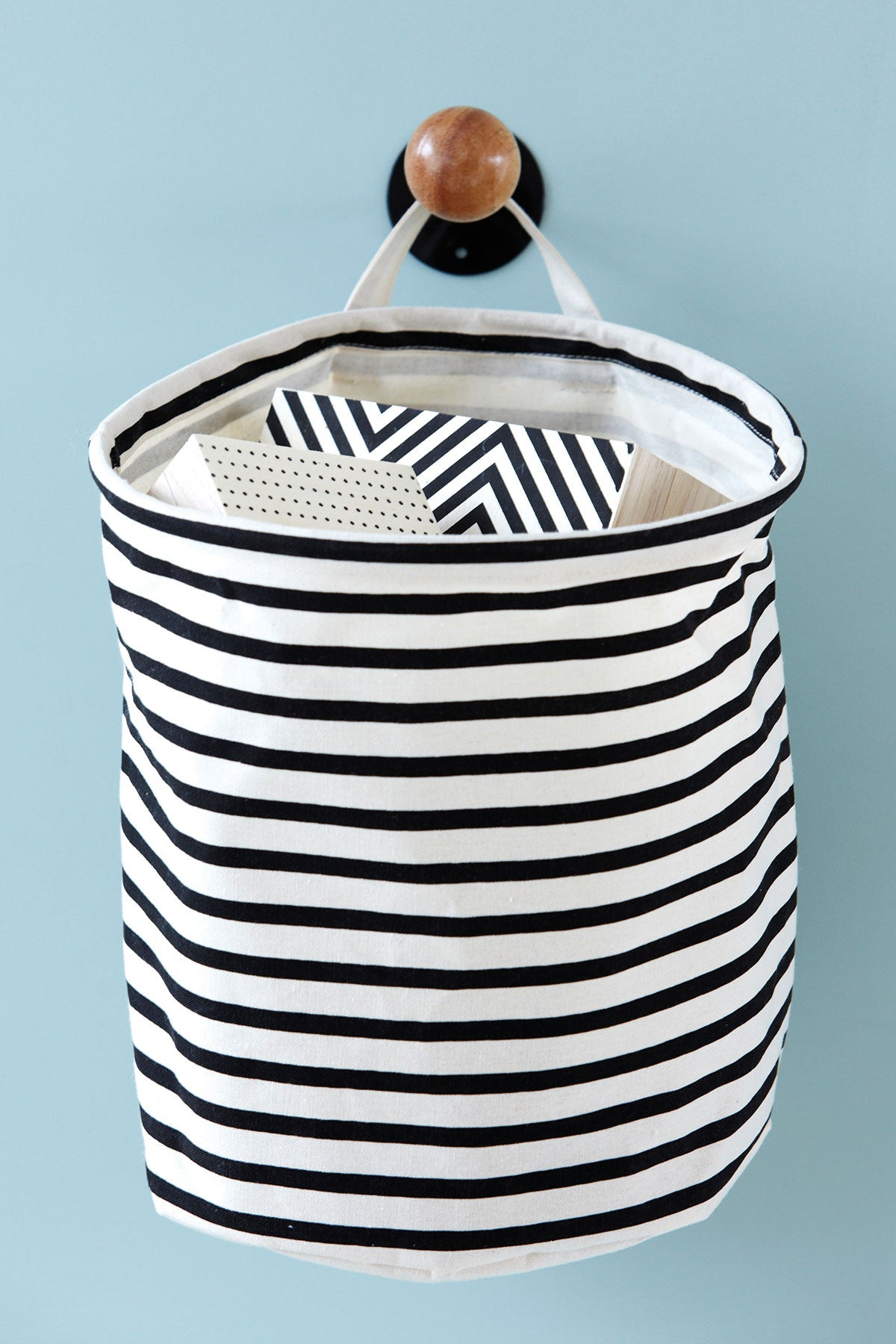 Black Stripe Laundry Bag, Storage, House Doctor - 3LittlePicks