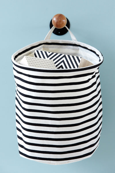 Black Stripe Laundry Bag
