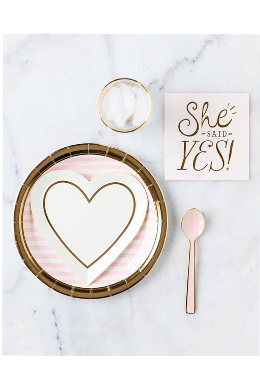 Bride to Be Heart Paper Plates, Partyware, My Mind's Eye - 3LittlePicks