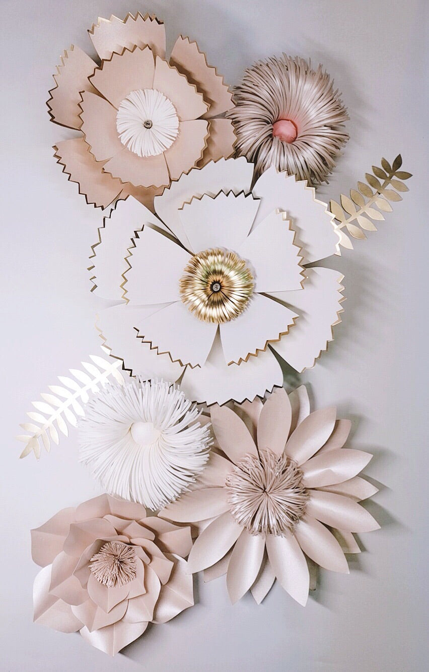 Champagne Pink Giant Paper Flowers