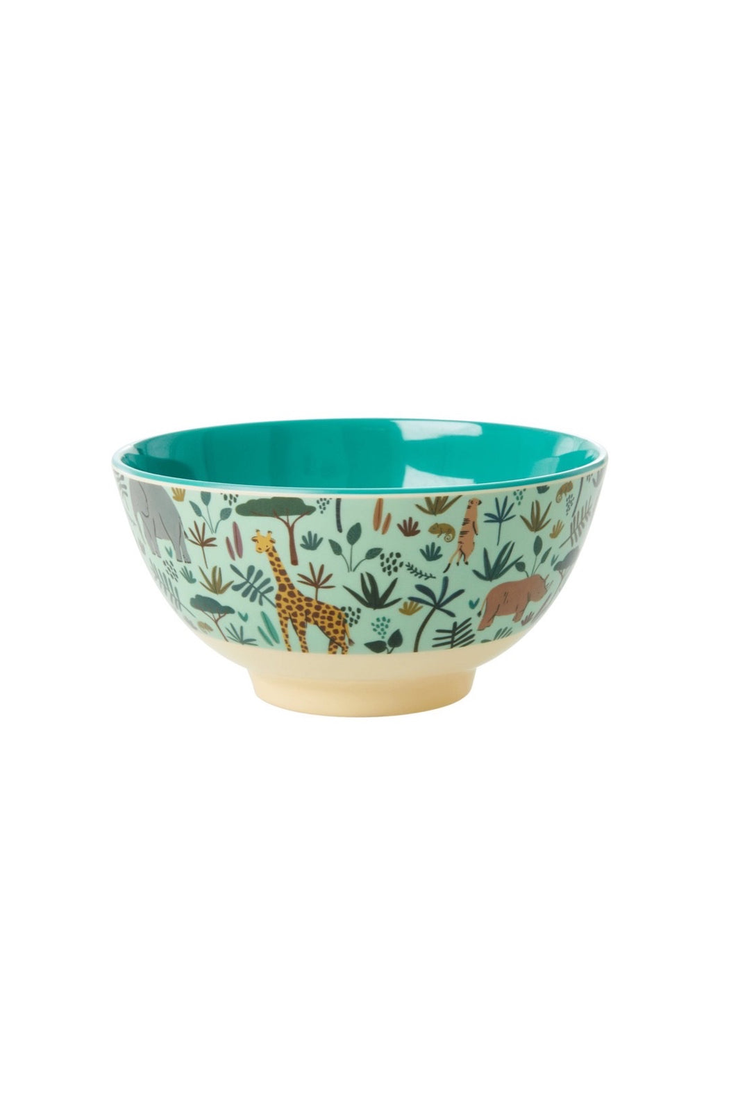 Jungle Animals Melamine Kids Medium Bowl Green