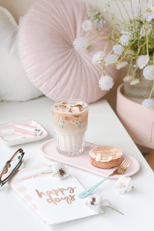 PRE-ORDER: Bell Flowers Glass Cup