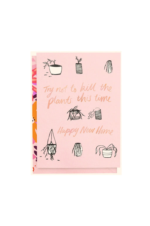 Don't Kill The Plants Card, Stationary, Blushing Confetti - 3LittlePicks