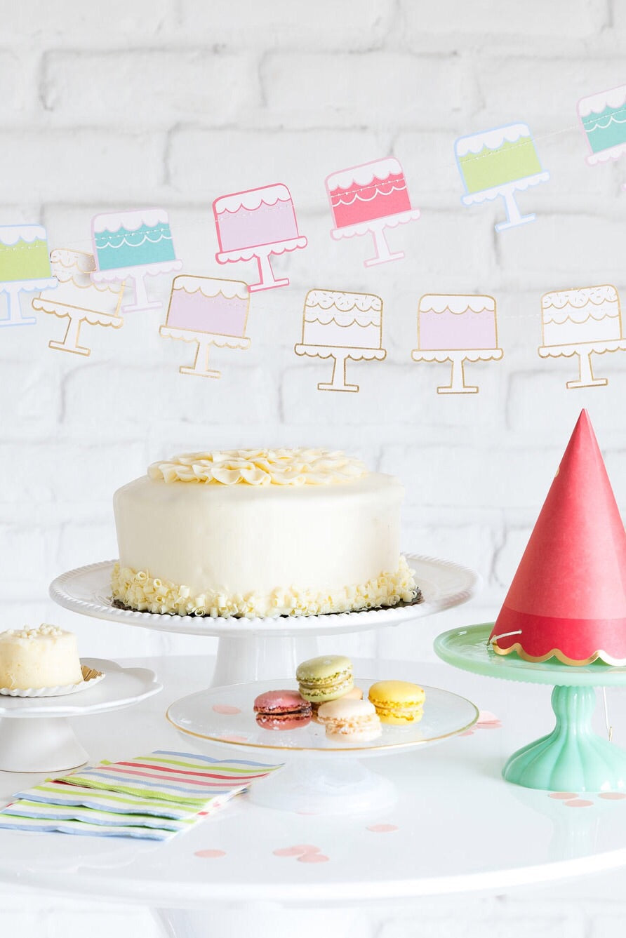 Cake Banner, Partyware, My Mind's Eye - 3LittlePicks
