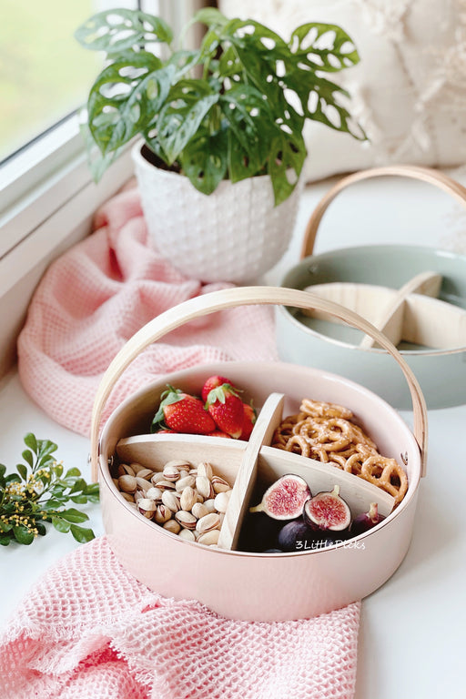 PRE-ORDER: Wooden Handle Pastel Serving Tray