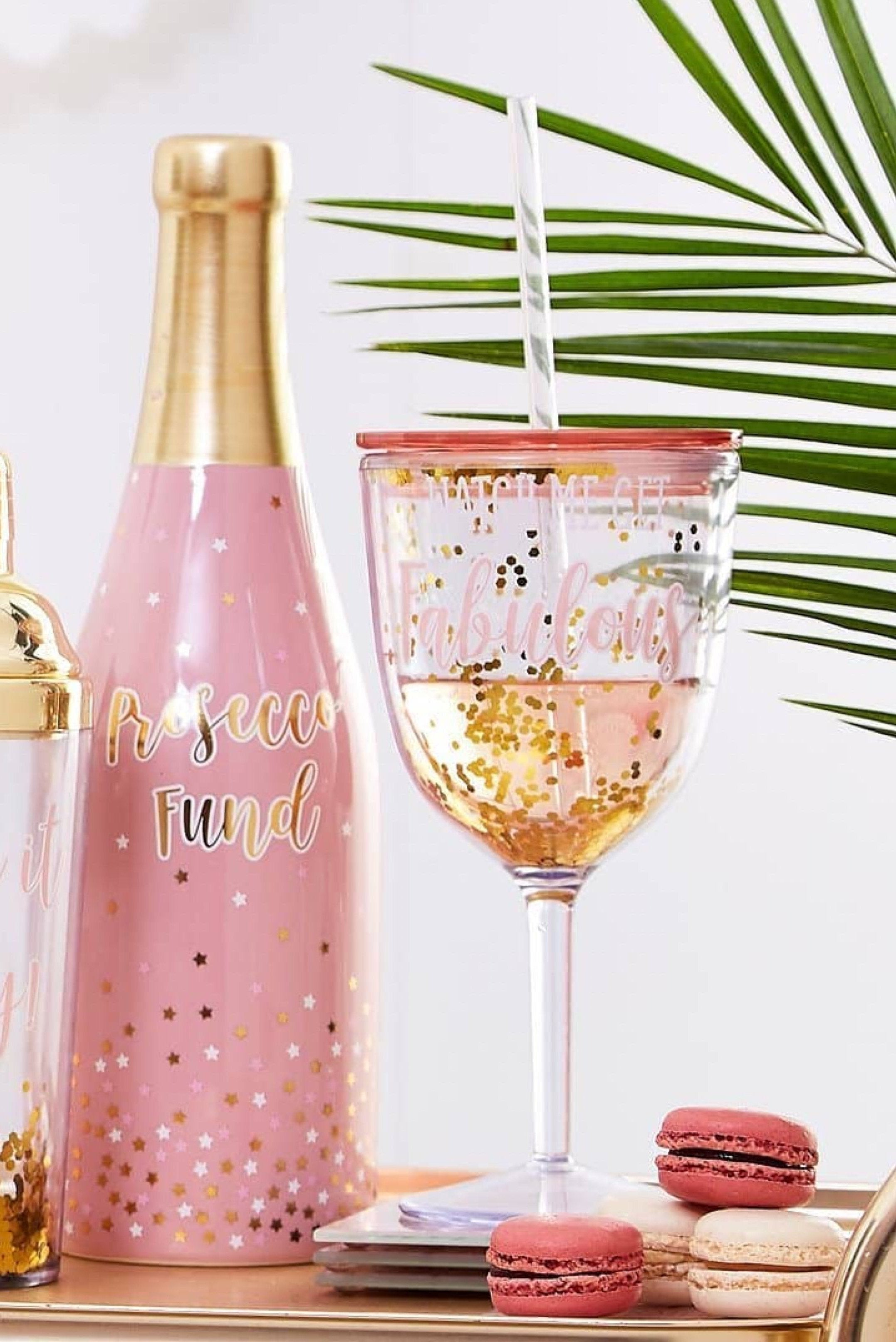 Prosecco Party Straw Drinking Cup