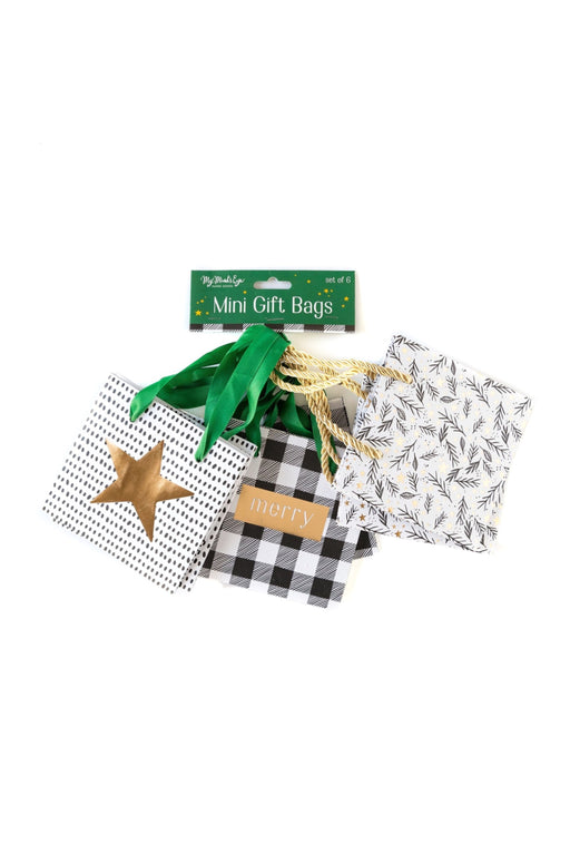 Christmas Foliage Mini Gift Bag Set
