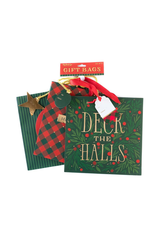 Deck The Halls Large Gift Bag Set