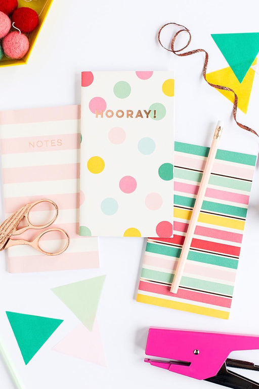 Hooray Mini Notebook Set, Stationary, My Mind's Eye - 3LittlePicks