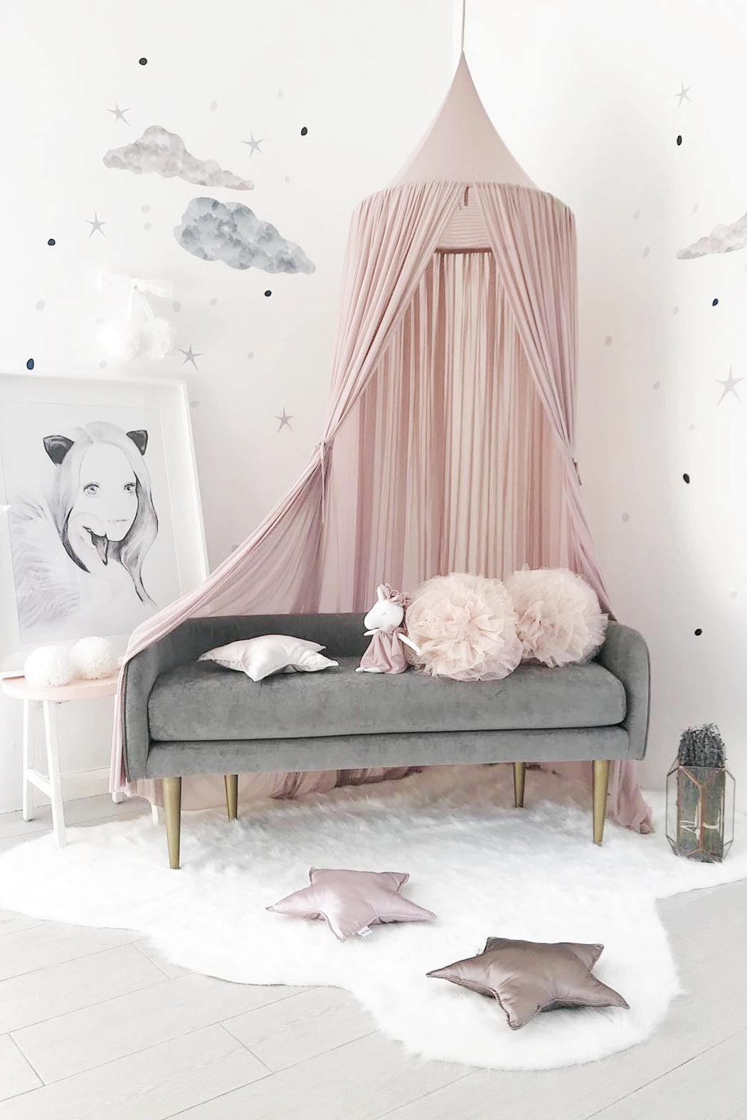 PRE-ORDER: Old Rose Sheer Canopy, Decor, Spinkie - 3LittlePicks