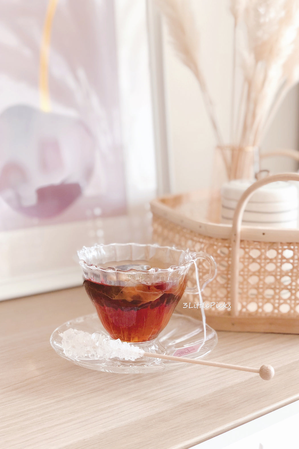 Elegant Swirled Glass Tea Set